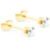1/4ct Diamond Studs 14K Yellow Gold (J-K, I2)