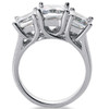 1 1/4ct Three Stone Diamond Ring 14K White Gold (H/I, I)