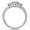 1/2ct Three Stone Diamond Ring 14K White Gold (H-I, SI)