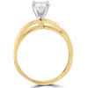 1 ct Round Diamond Solitaire Split Shank Engagement Ring 14K Yellow Gold (G/H, I1-I2)