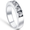 1 1/4ct Diamond Wedding Ring Channel Set Mens Ring 14k White Gold (G/H, I1)