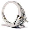 1/2ct Diamond Semi Mount Antique Engagement Setting (G/H, I1)