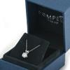 1/2ct Solitaire Diamond Pendant Necklace 14K White Gold (J/K, I2-I3)