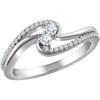 1/4CT Two Stone Forever Us Diamond Ring 10K White Gold (G/H, I1-I2)