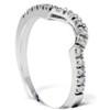 .25CT Curved Diamond Notched Wedding Ring Enhancer 10K (H, I2-I3)