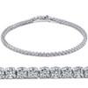 "3ct Round GENUINE Diamond Tennis Bracelet 14K White Gold Womens 7"" Brand New (G/H, I1)"