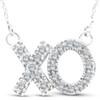 1/4ct XO Diamond Pendant 14K White Gold (G/H, I2)
