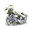 .85Ct Round Brilliant Cut Natural Diamond Stud Earrings in 14K Gold Classic Setting (J-K, I2-I3)