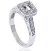 1/4ct Vintage Semi Mount Engagement Ring 14K White Gold (G/H, VS2-SI1)