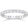 1 1/2 Ct Diamond Eternity Ring Womens Stackable White Gold Band Lab Created (((G-H)), SI(1)-SI(2))