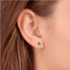 Peridot Studs 14K White Gold 4mm 1/2ct TDW