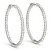 1.80 Ct ct Diamond Inside Outside Hoops Vault Lock 14K White Gold 30mm Tall (G/H, VS)
