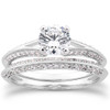 3/4ct Split Shank Diamond Engagement Wedding Ring Set 14K White Gold (G/H, I1)