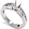 1/2ct 14k White Gold Diamond Engagement Mount Ring (G/H, I1)