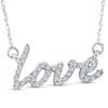 1/5ct Love Symbol Diamond Pendant 14K White Gold (G/H, I2-I3)