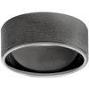 Mens 14K Black Gold Brushed 8mm Comfort Fit Wedding Band