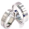 1 1/10ct Diamond Matching 14K Gold Brushed Wedding Rings (G/H, I1)