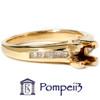 1/3ct Princess Cut Diamond Semi Mount Ring 14K Gold (H/I, SI)