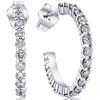 1 1/10ct Diamond Hoops 14K White Gold (G/H, I1)
