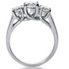 1 3/4ct Three Stone Round Cut Diamond Engagement Ring 14k White Gold (F, VS)