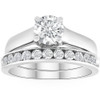 1 1/2ct Solitaire Round Enhanced Diamond Engagement Ring Set 14K White Gold (H, I2)
