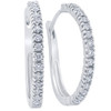 1/2ct Diamond Hoops 10K White Gold (G/H, )
