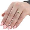 1ct 3 Stone Diamond Engagement Ring 14K Yellow Gold (J, I2-I3)