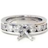 1 1/2ct Diamond Engagement Ring Semi Mount 14K White Gold (G, SI)