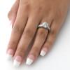 4 1/2ct Round Enhanced Diamond Engagement Ring 14K White Gold (H/I, I1-I2)