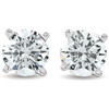 1 1/2ct 14K White Round Cut Studs Earrings Screw Back (G-H, I2-3)