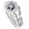 1/2ct Vintage Diamond Ring Semi Mount Bridal Set 14K White Gold (G/H, I1-I2)