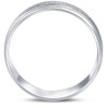 8mm Brushed Mens Wedding Band 10K White Gold
