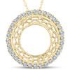 1/2ct Vintage Diamond Circle Pendant 14K Yellow Gold (G/H, I1)