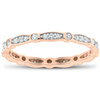 1/3ct Diamond Eternity Wedding Ring 14K Rose Gold (G/H, I1-I2)