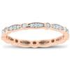 1/3ct Diamond Eternity Wedding Ring 14K Rose Gold (G/H, I1-I2)