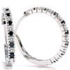 1/2ct Black & White Diamond Hoops 14K White Gold (G/H, I2)