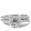 1/4ct Pave Halo Diamond Mount Engagement Ring Setting (G/H, I1)