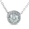 1/3ct Genuine Round Solitaire Halo Diamond Pendant 14k White Gold (I-J, I1-I2)