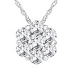 1/2ct Pave Fire Diamond Clustser Pendant 14K White Gold (G/H, I1)