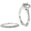 1/2ct Halo Diamond Engagement Wedding Ring Set 14K White Gold (G/H, I1)