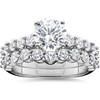 2 1/15ct Diamond Engagement Ring With Matching Wedding Band 14K White Gold (I-J, I1-I2)