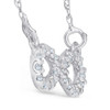1/10ct Petite Diamond Infinity Pendant 14K White Gold (G/H, I2)