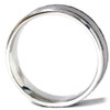 Mens Hammered 14K White Gold Comfort Fit Ring Band New