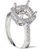 1/5ct Princess Cut Halo Diamond Engagement Ring Setting 14k White Gold (G/H, I2)