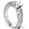 1/4ct Diamond Engagement Antique Like Ring Setting 14K (G/H, I1)