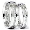 2 1/2ct Diamond Matching Eternity Ring Set 14K White Gold (G/H, I1)