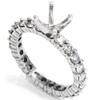 1 1/2ct VS Diamond Eternity Ring Engagement Setting 14K (I/J, VS)
