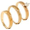 1/4ct Diamond Matching Trio Wedding Ring Set 14K Gold (G/H, I2)