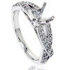 1/2ct Vintage Infinity Diamond Ring Setting 14K White Gold (H/I, I2-I3)