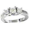 1 3/4ct Vintage Three Stone Diamond Ring 14K White Gold (H, I1)
